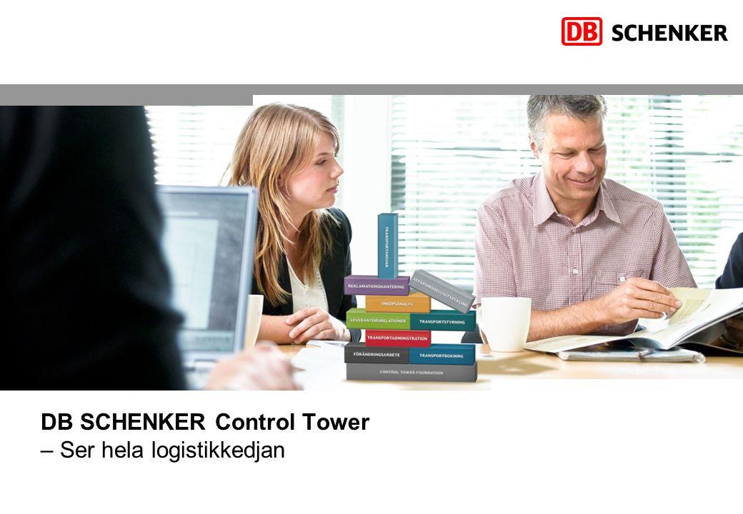 DB SCHENKER Control Tower – Ser hela logistikkedjan
