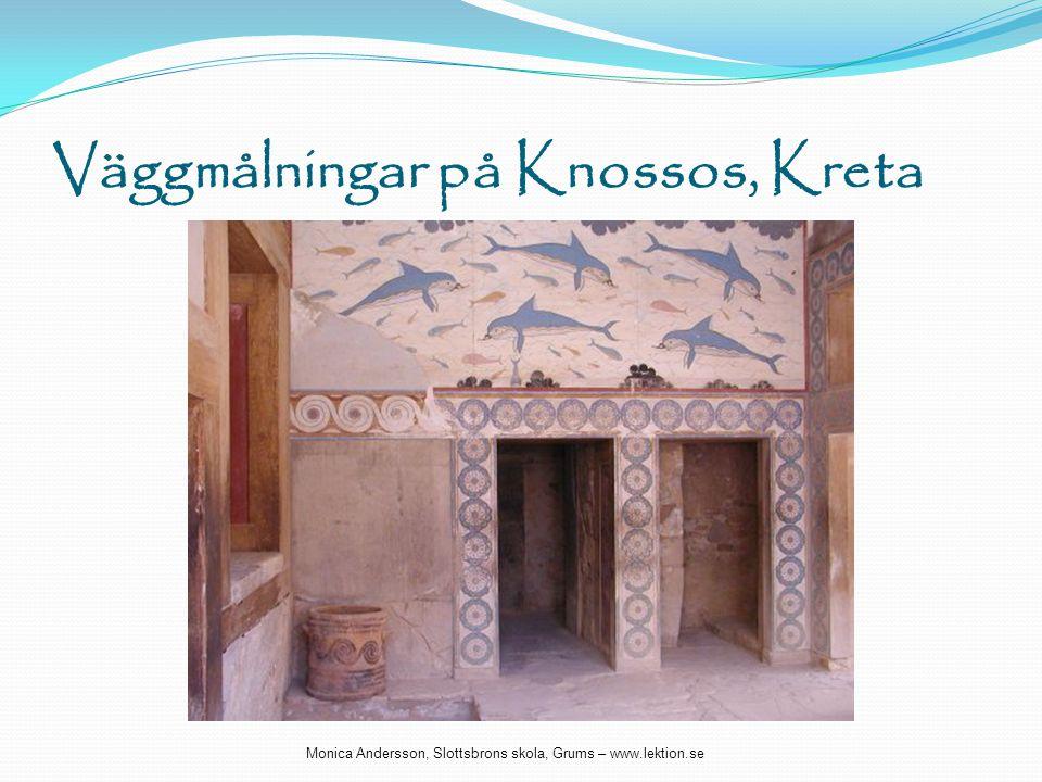 Väggmålningar på Knossos, Kreta Monica Andersson, Slottsbrons skola, Grums – www.lektion.se