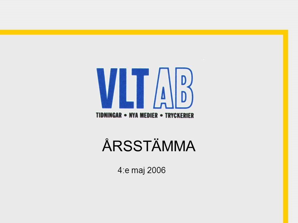 32 VLT:s aktiekurs 2001 - 28 april 2006