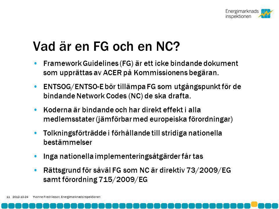 Vad är en FG och en NC.