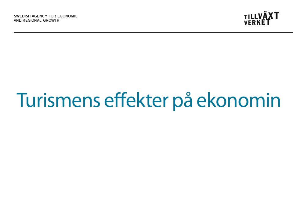 SWEDISH AGENCY FOR ECONOMIC AND REGIONAL GROWTH Turismen bidrar till ökad sysselsättning Figur 19