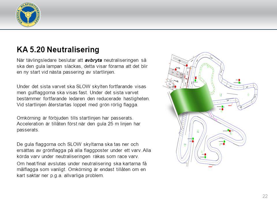 """KA 5.20 Neutralisering Tracksa Vid användande av Tracksa ljussignal används det inbyggda """"Pace Car"""" signalerna som består av enkelt blinkande gult lju"""