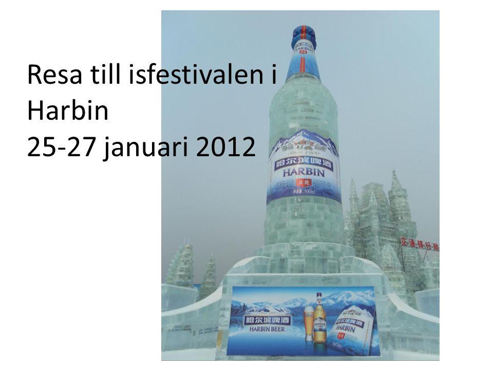 Resa till isfestivalen i Harbin 25-27 januari 2012