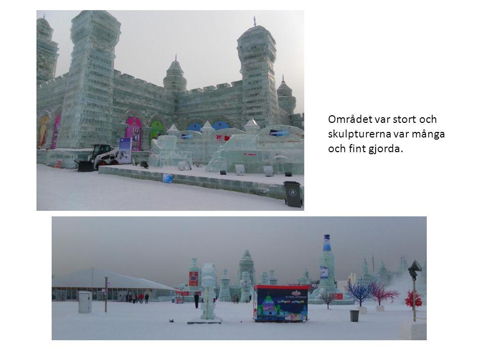 Området var stort och skulpturerna var många och fint gjorda.
