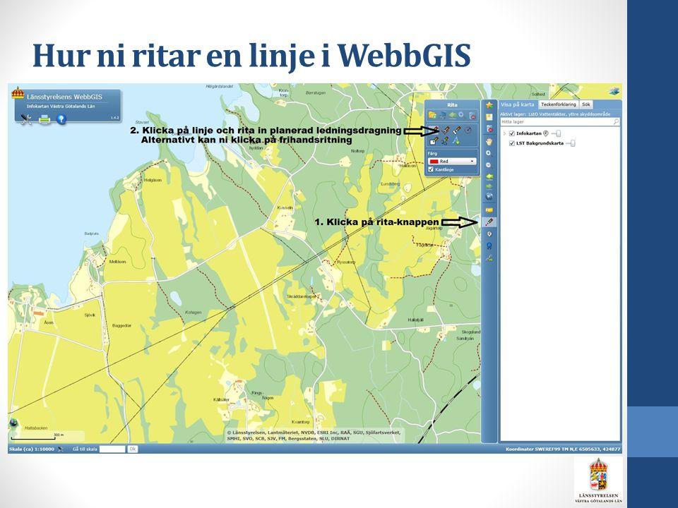 Hur ni ritar en linje i WebbGIS