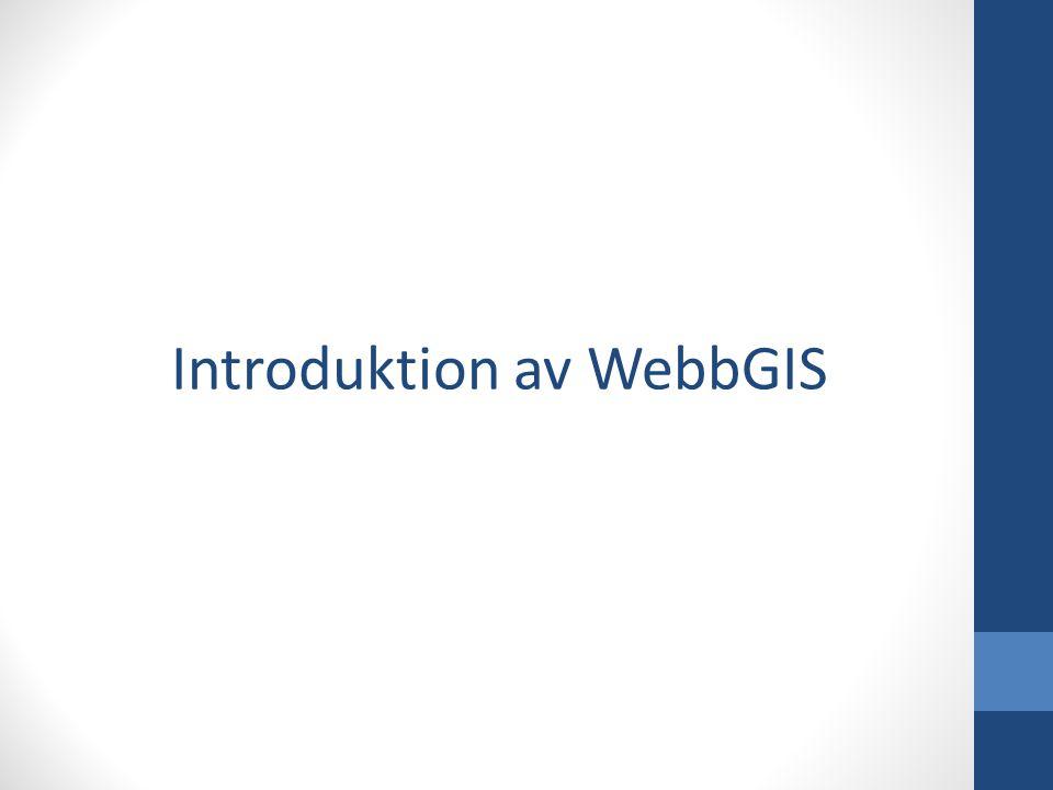 Hur ni tänder skikt i WebbGIS