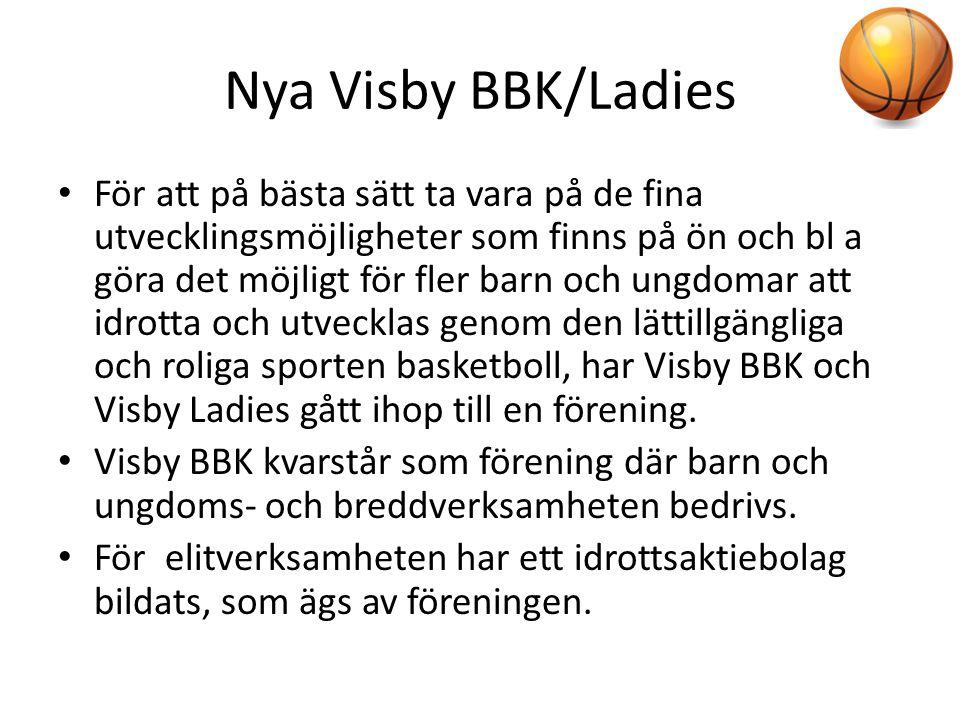 Nya Visby BBK/Ladies • För att på bästa sätt ta vara på de fina utvecklingsmöjligheter som finns på ön och bl a göra det möjligt för fler barn och ung