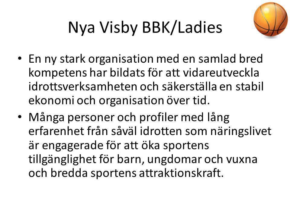 Nya Visby BBK/Ladies • En ny stark organisation med en samlad bred kompetens har bildats för att vidareutveckla idrottsverksamheten och säkerställa en