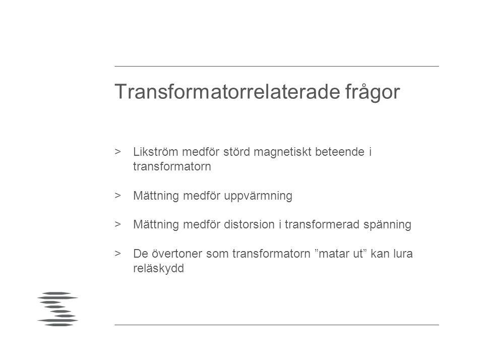Ström från likströmsmättad transformator