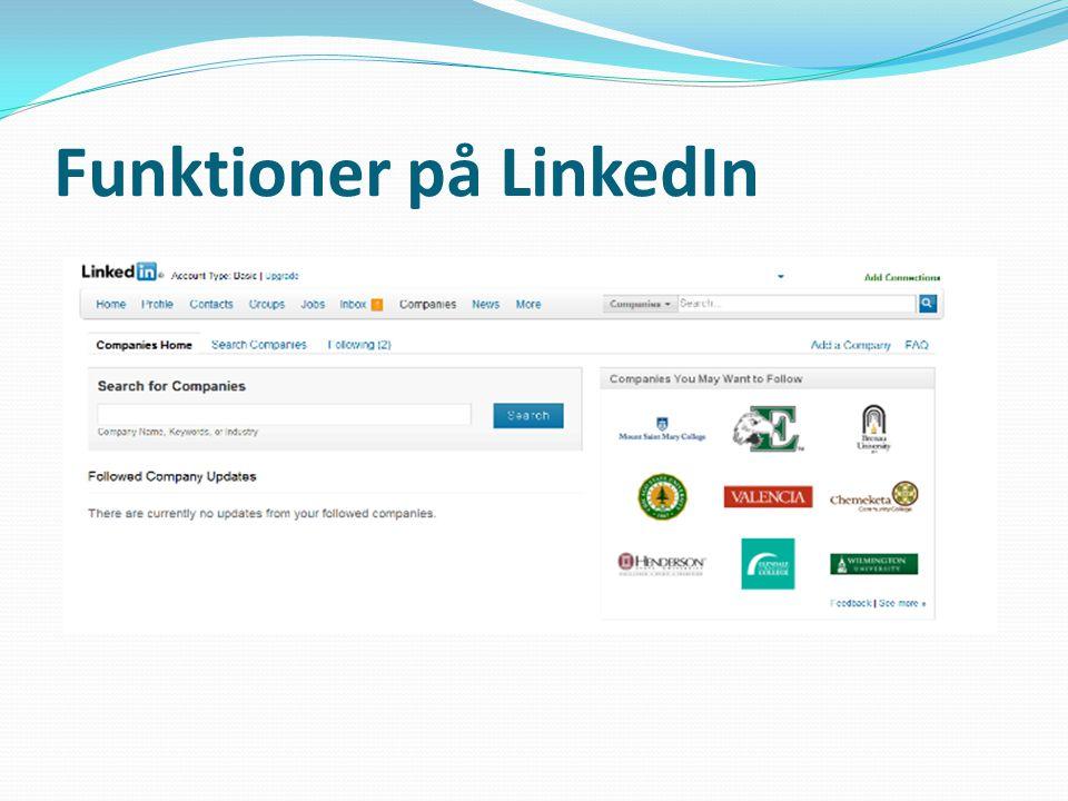 Profile: En personlig profil som kan redigeras och uppdateras vid behov.