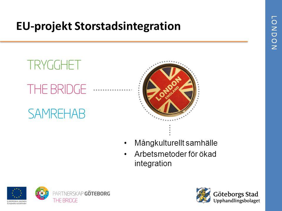 LONDON •Mångkulturellt samhälle •Arbetsmetoder för ökad integration EU-projekt Storstadsintegration