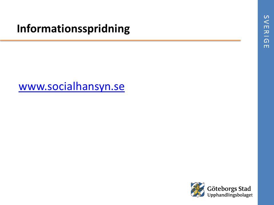 www.socialhansyn.se SVERIGE Informationsspridning
