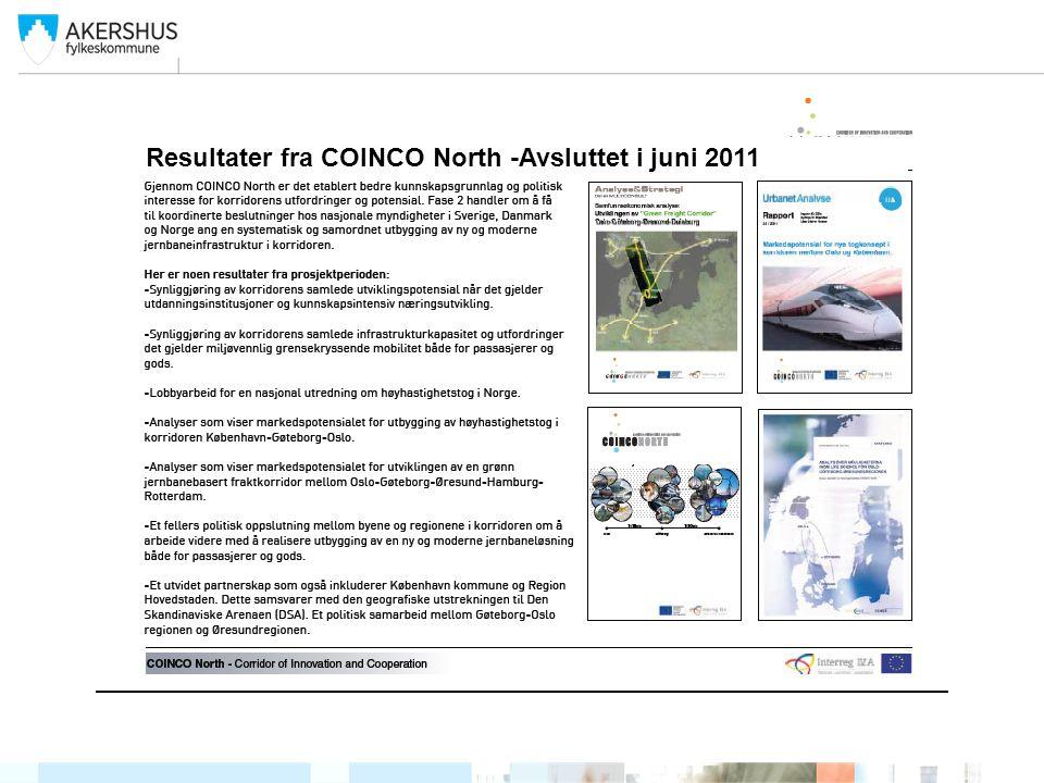 Resultater fra COINCO North -Avsluttet i juni 2011
