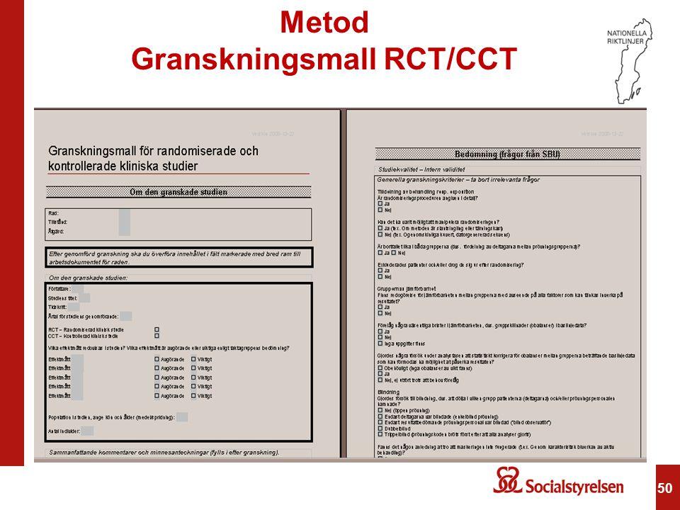 50 Metod Granskningsmall RCT/CCT