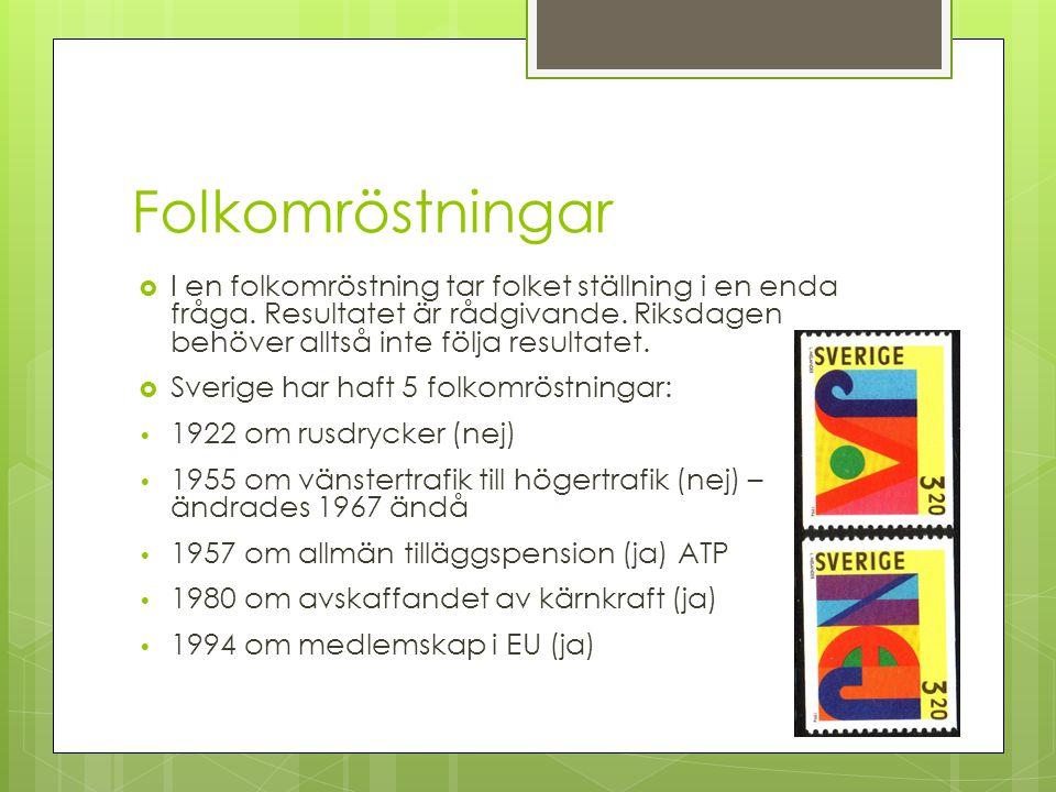 Valkretsar och mandat  Riksdagen består av 349 personer. För att makten ska fördelas över landet kommer dessa från olika delar av Sverige. Det finns