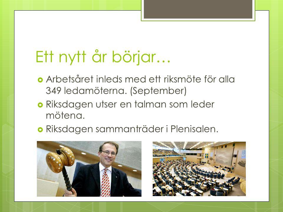 Från val till riksdag  Tre olika val 1.Kommunfullmäktige (vit) 2.
