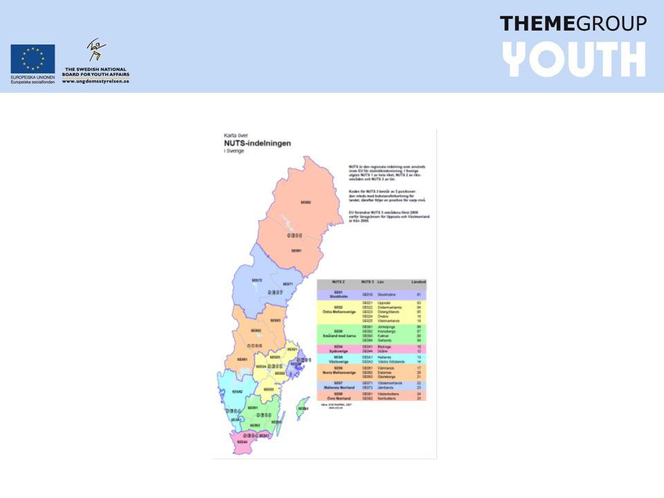Prioritering av unga, Programområde 1 •Prioritering av insatser för att underlätta generationsskifte i Västsverige samt Småland och öarna.