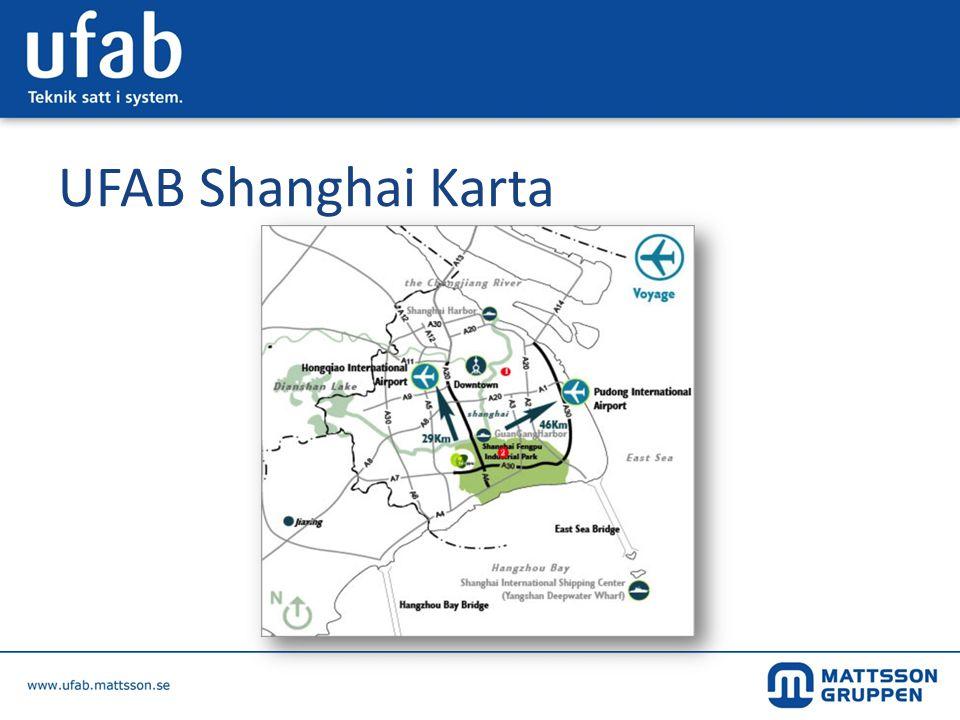 UFAB Shanghai Karta