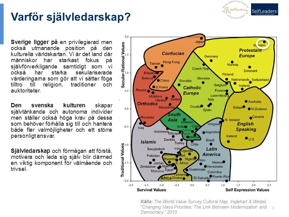 3 Varför självledarskap? Sverige ligger på en privilegierad men också utmanande position på den kulturella världskartan. Vi är det land där människor