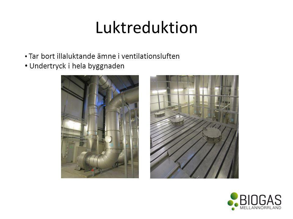 Luktreduktion • Tar bort illaluktande ämne i ventilationsluften • Undertryck i hela byggnaden