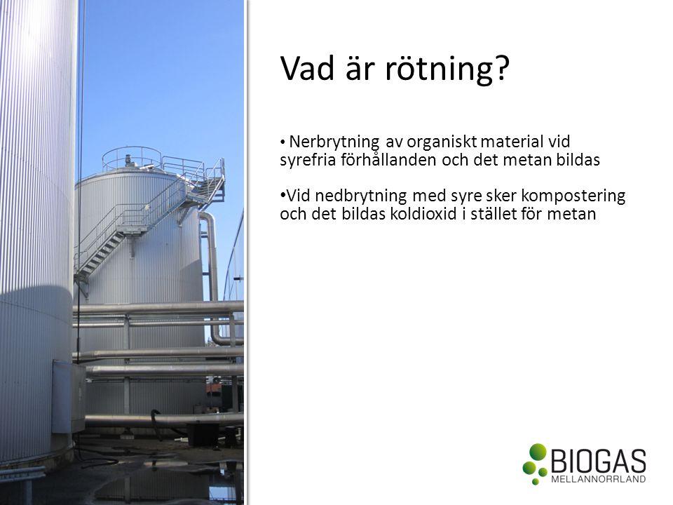 • Tillgång råvara matavfall • Volymrisk gasförsäljning • Gaspris • Politiska risker styrmedel skatter, avfallsutredningen etc.