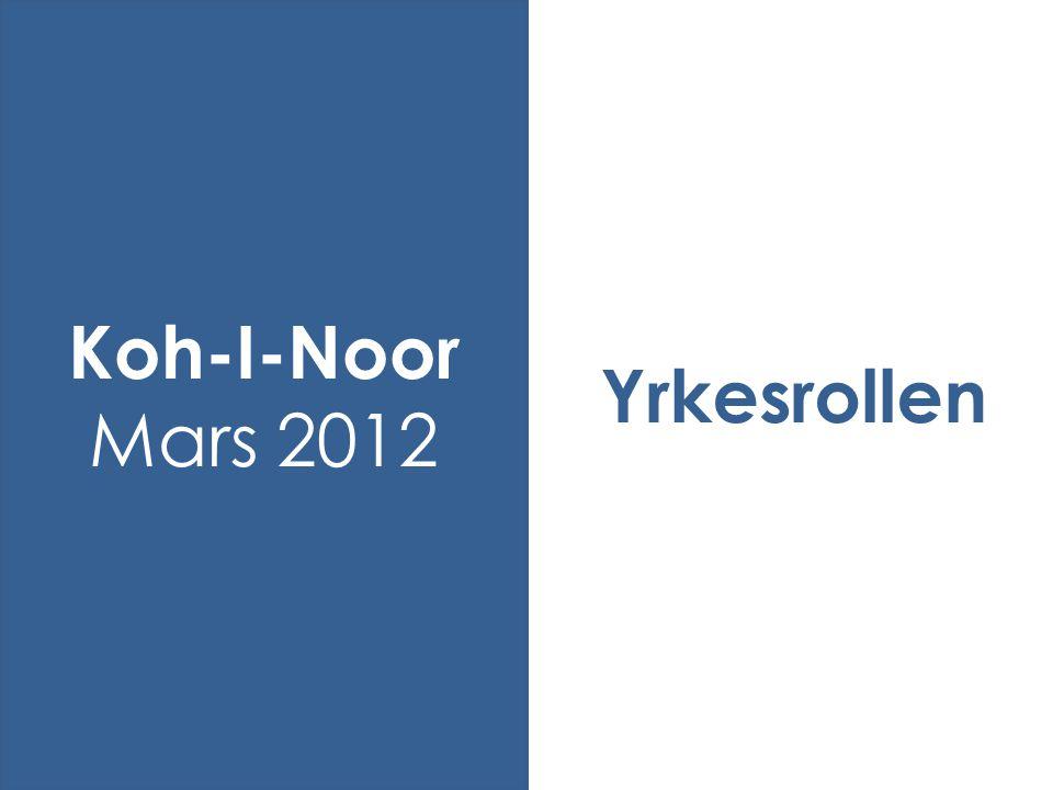 Yrkesrollen Koh-I-Noor Mars 2012