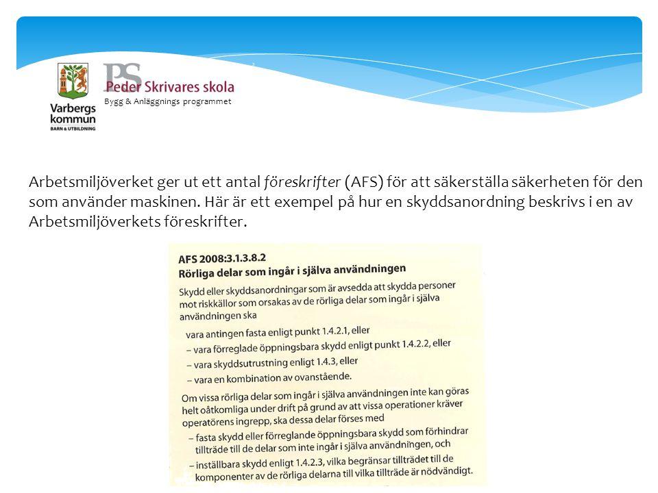 Bygg & Anläggnings programmet Skruvdragare.