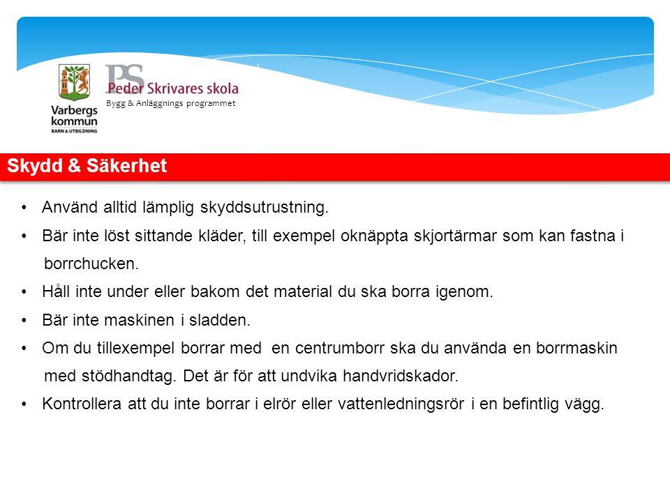 Bygg & Anläggnings programmet Skötsel & underhåll.