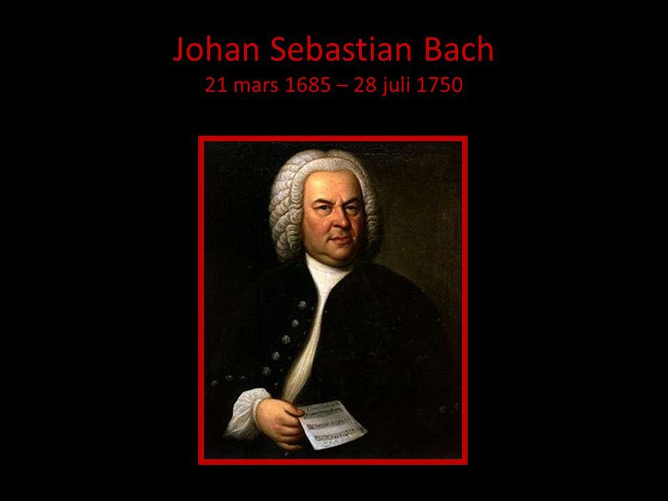 Bach och Bachs ungdomår • Levde mellan 1685-1750.• Föddes i Eisenach.