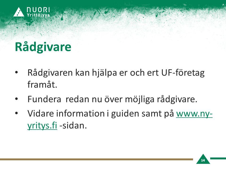 Rådgivare • Rådgivaren kan hjälpa er och ert UF-företag framåt.