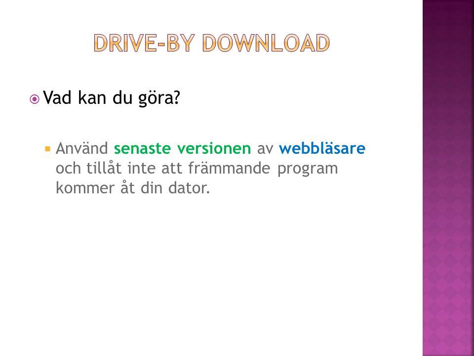  Använd senaste versionen av webbläsare och tillåt inte att främmande program kommer åt din dator.