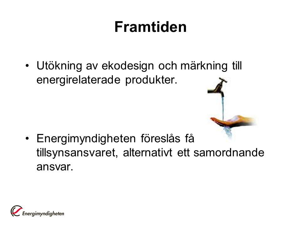 Framtiden •Utökning av ekodesign och märkning till energirelaterade produkter.