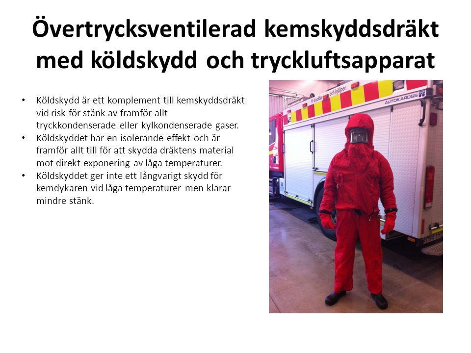 Branddräkt med stänkskydd och tryckluftsapparat • Stänkskyddet fungerar som ett enkelt men effektivt skydd mot stänk.