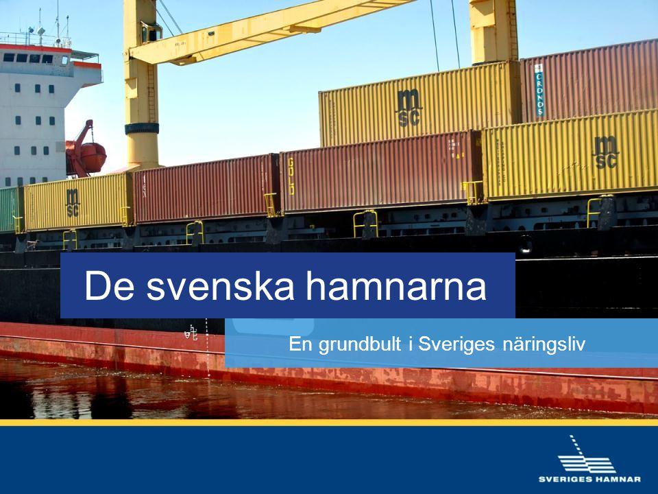 Inte bara sjöfart • Allt mer landbaserad verksamhet • Lagring, förädling och distribution • Stora varuvärden kräver säkerhet och tillförlitlighet