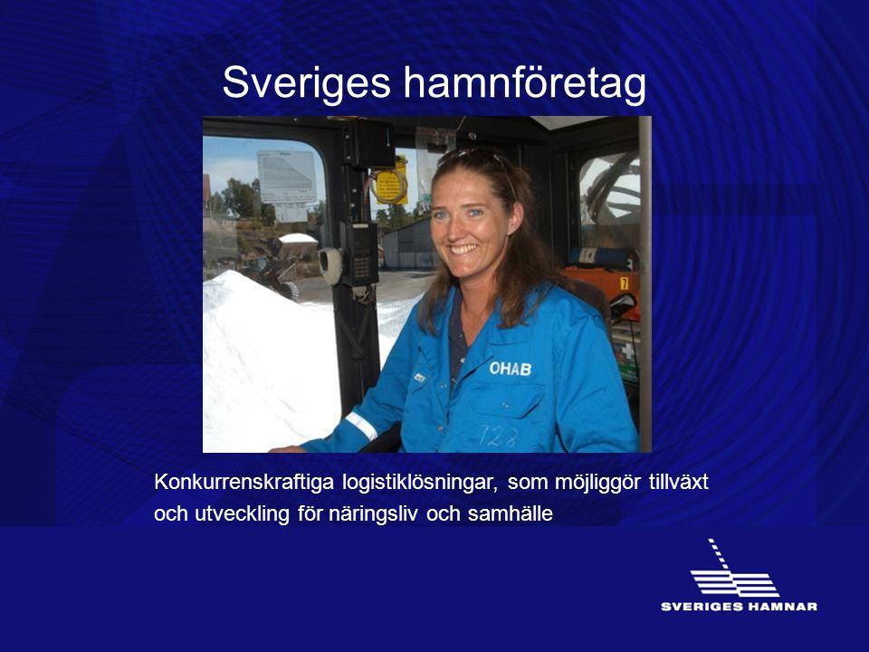 Sveriges hamnföretag Konkurrenskraftiga logistiklösningar, som möjliggör tillväxt och utveckling för näringsliv och samhälle