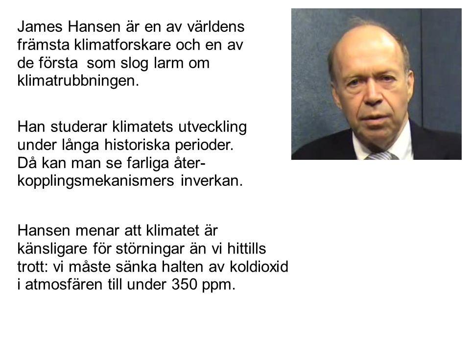 James Hansen är en av världens främsta klimatforskare och en av de första som slog larm om klimatrubbningen. Han studerar klimatets utveckling under l