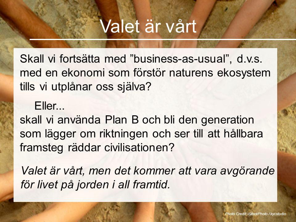 """Valet är vårt Skall vi fortsätta med """"business-as-usual"""", d.v.s. med en ekonomi som förstör naturens ekosystem tills vi utplånar oss själva? Photo Cre"""