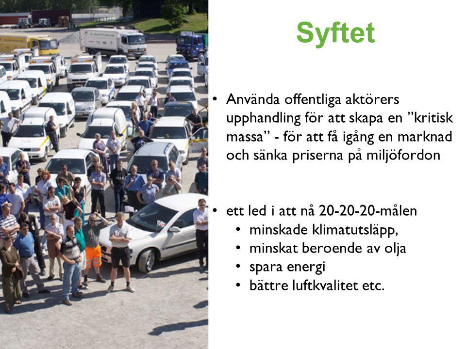 I KORTHET När offentliga aktörer köper fordon eller kollektiv-trafiktjänster ska de väga in följande miljöpåverkan: • Energi • Koldioxidutsläpp • De lokala utsläppen av  NO X  NMHC  Partiklar