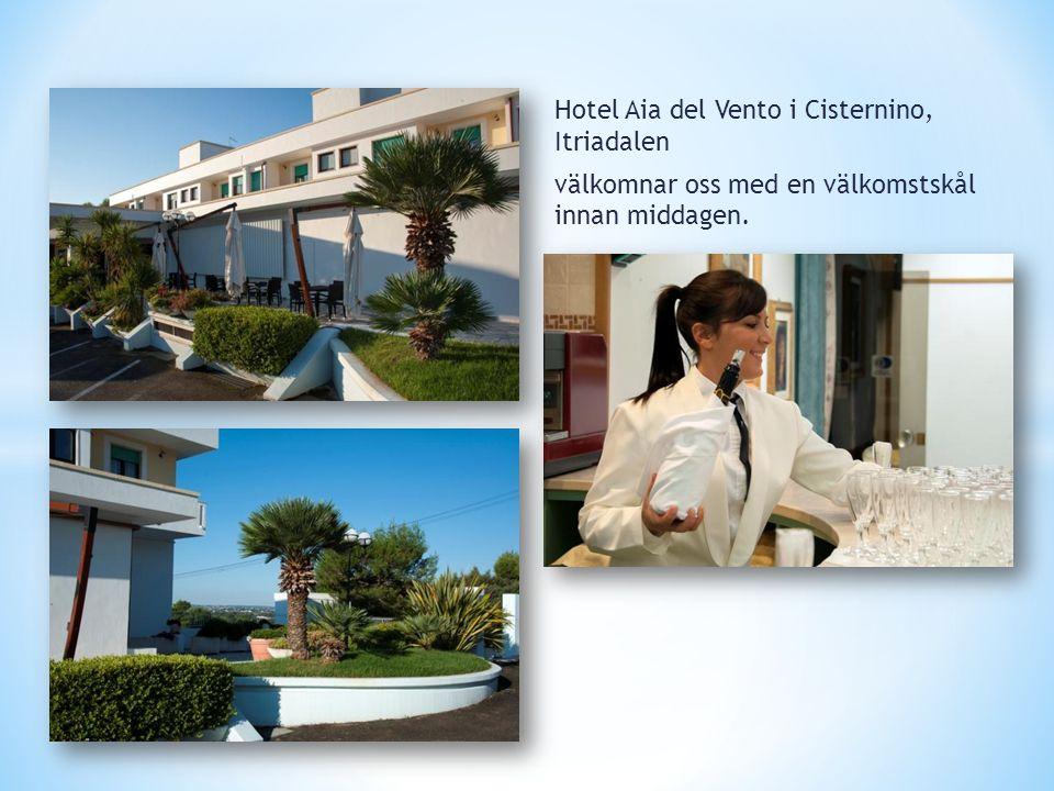 Hotel Aia del Vento i Cisternino, Itriadalen välkomnar oss med en välkomstskål innan middagen.