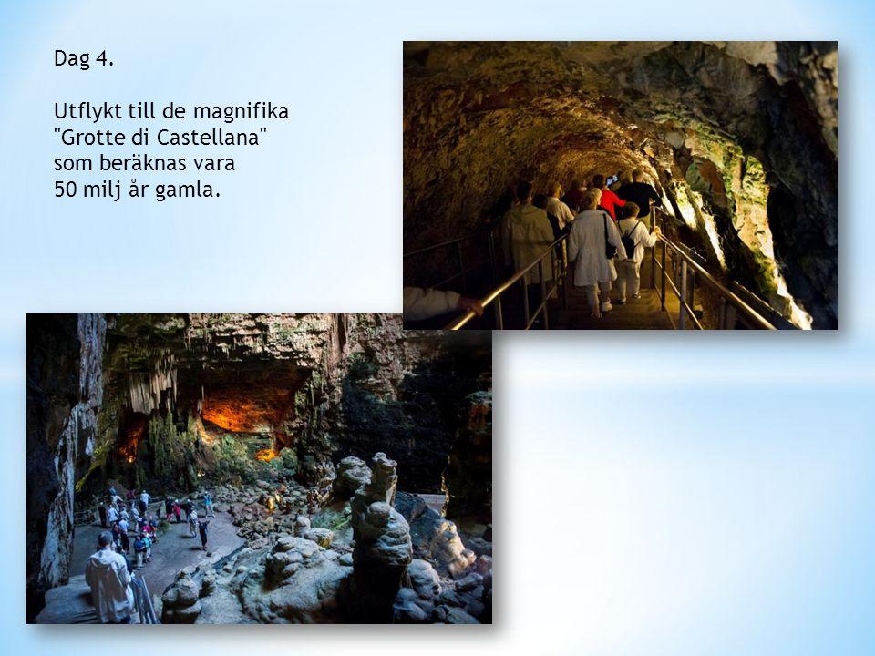 Dag 4. Utflykt till de magnifika Grotte di Castellana som beräknas vara 50 milj år gamla.