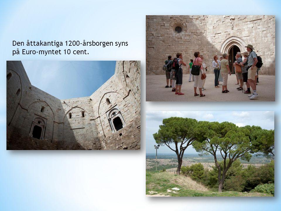 Den åttakantiga 1200-årsborgen syns på Euro-myntet 10 cent.
