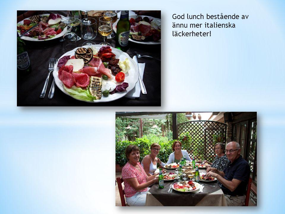 God lunch bestående av ännu mer italienska läckerheter!
