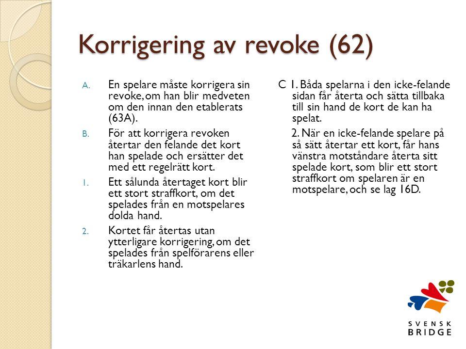 Korrigering av revoke (62) A.
