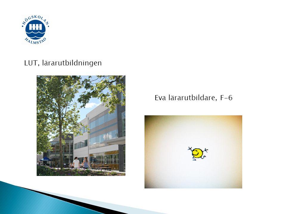 Eva Hansson Universitetsadjunkt i svenskämnets didaktik VFU-ledare F-6 Grundskollärare F-6 i svenska och matematik