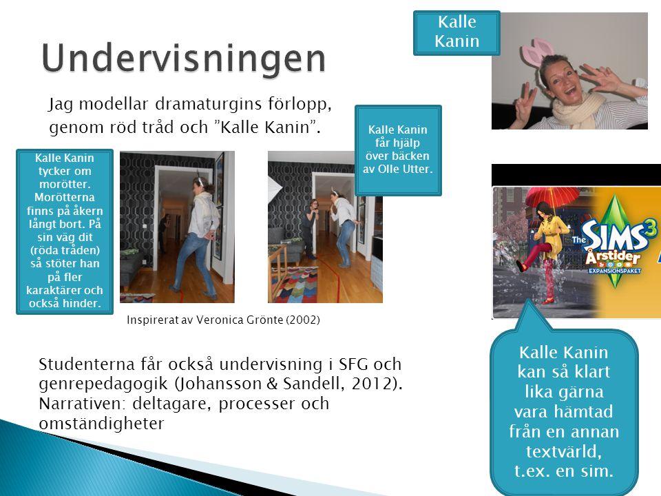 HH- kursplan för studenten  …förmåga som är nödvändig för iscensättning av svenskundervisning för den aktuella åldersgruppen  … vidare innefattas sp