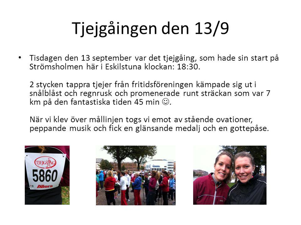 Tjejgåingen den 13/9 • Tisdagen den 13 september var det tjejgåing, som hade sin start på Strömsholmen här i Eskilstuna klockan: 18:30. 2 stycken tapp