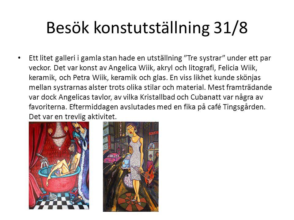 """Besök konstutställning 31/8 • Ett litet galleri i gamla stan hade en utställning """"Tre systrar"""" under ett par veckor. Det var konst av Angelica Wiik, a"""
