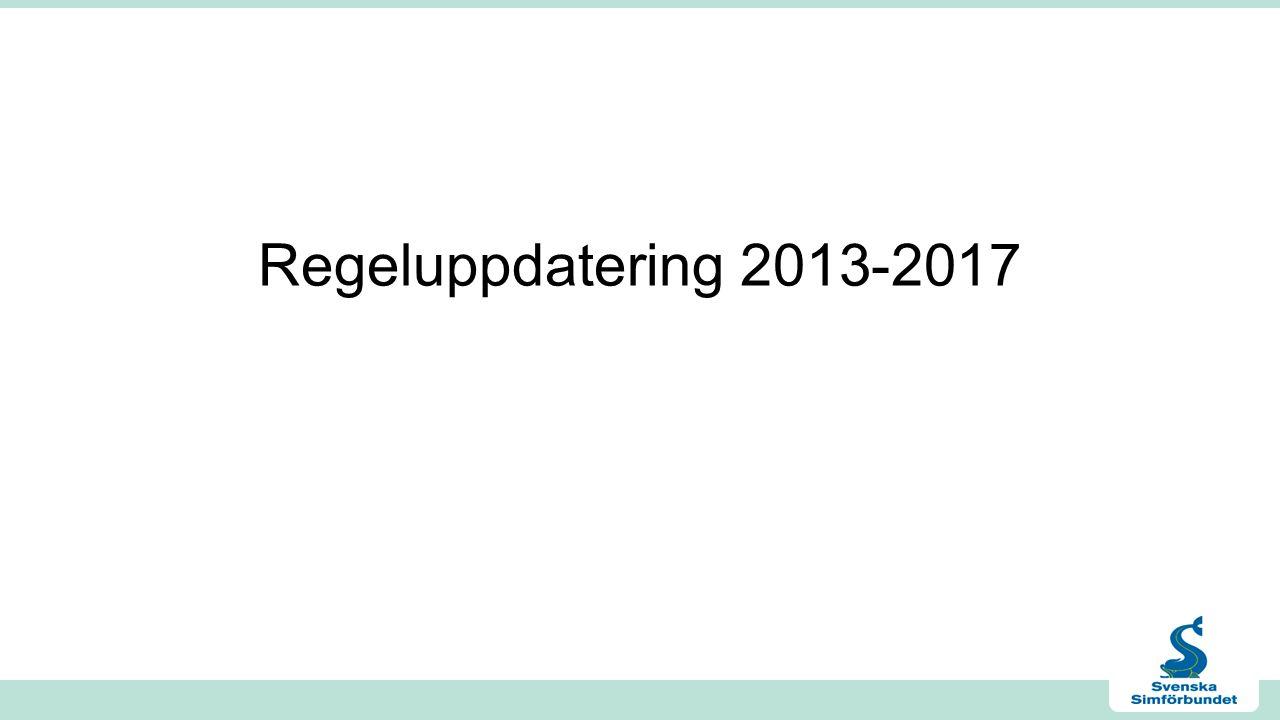 Regeluppdatering 2013-2017