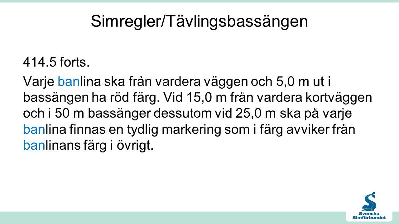 Simregler/Tävlingsbassängen 414.5 forts.