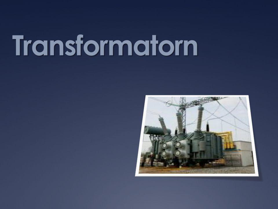  En transformator används för att höja eller sänka spänningen.
